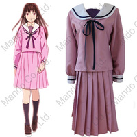 Anime Noragami Aragoto Iki Hiyori cosplay costume girls school uniform women halloween cosplay party outfit top + skirt 3pcs
