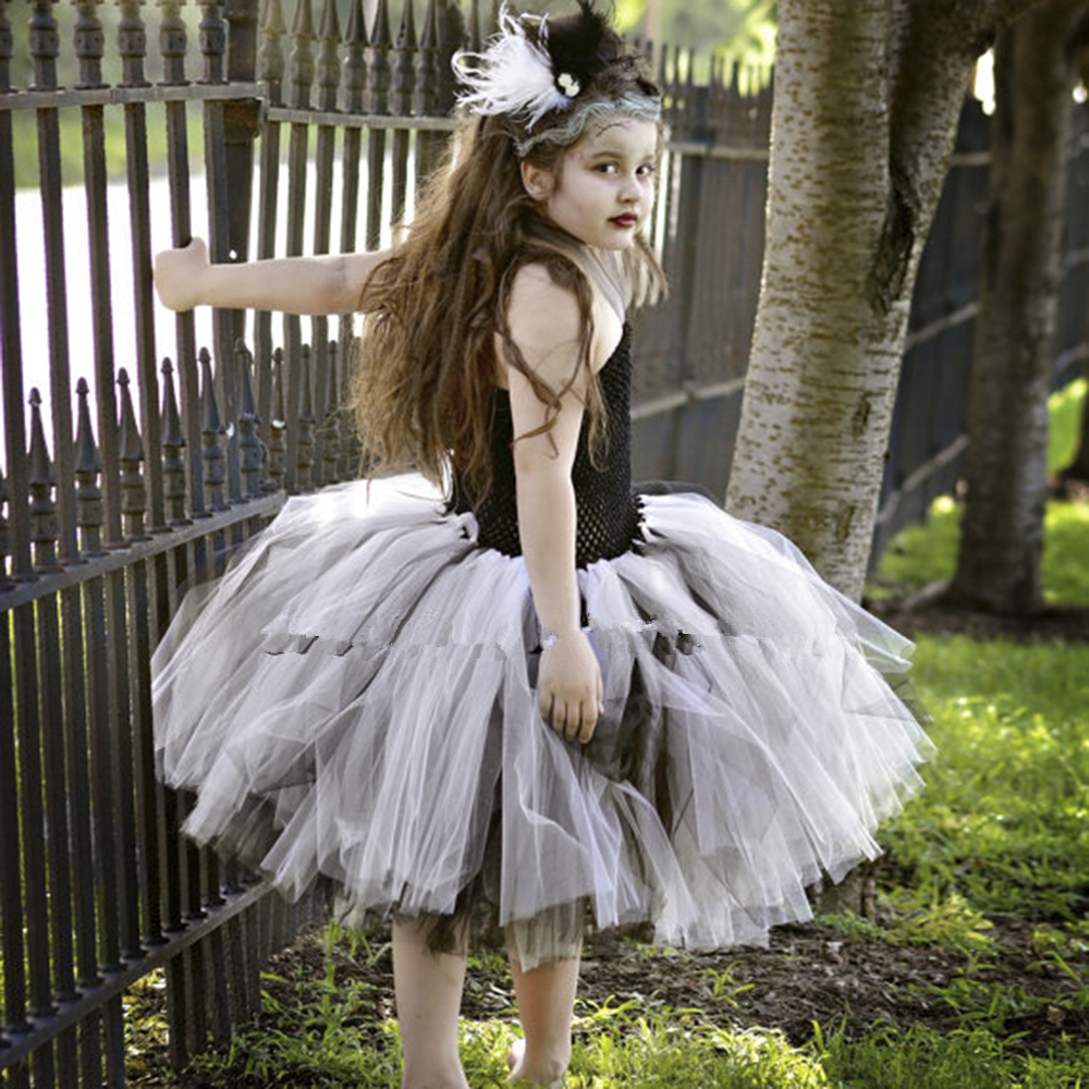 Bride Of Frankenstein Tutu Dress Halloween Costume Little Girls Teenager Dresses 5T 6 7 8 10 Scary Monster Pageant Gown PT123-in Dresses from Mother u0026 Kids ...  sc 1 st  AliExpress.com & Bride Of Frankenstein Tutu Dress Halloween Costume Little Girls ...