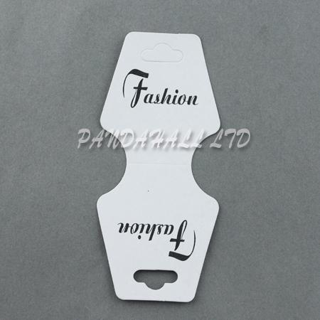 Paper Display Cards, Used for Bracelets and Hair Ties, White, 98x44x0.2mm