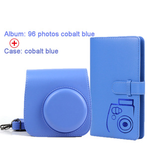 Image 5 - Protective Case Waterproof PU Leather Bag with Shoulder Strap+96 Pockets Photo Album for Fuji Fujifilm Instax Mini 9/8/7s Camera
