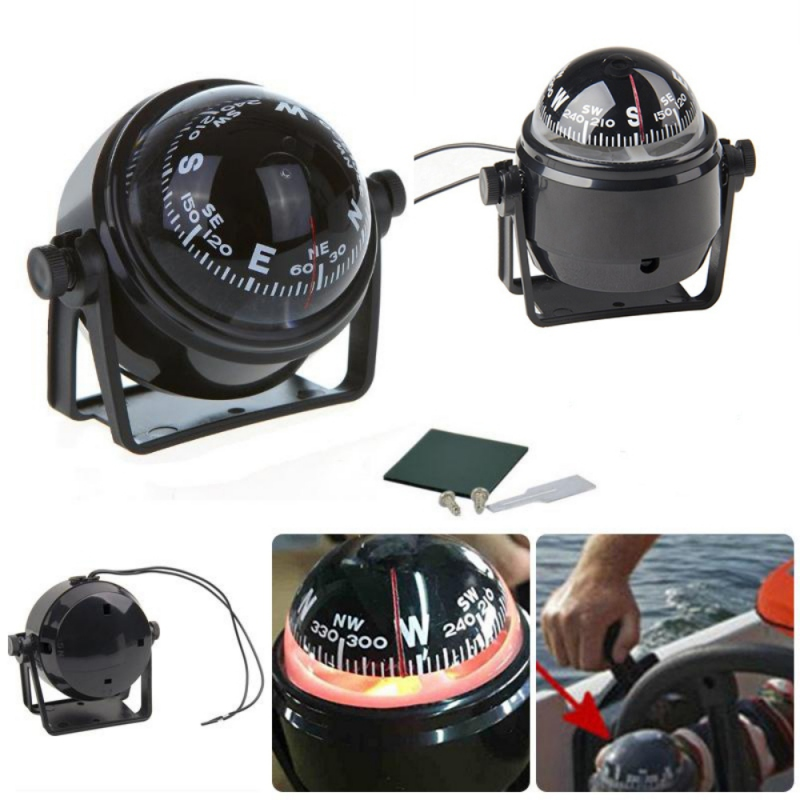 Sea Marine Electronic Boat Ship Compasses Truck Car Compass Navigation Positioning High Precision Pointing Guide With Led Light
