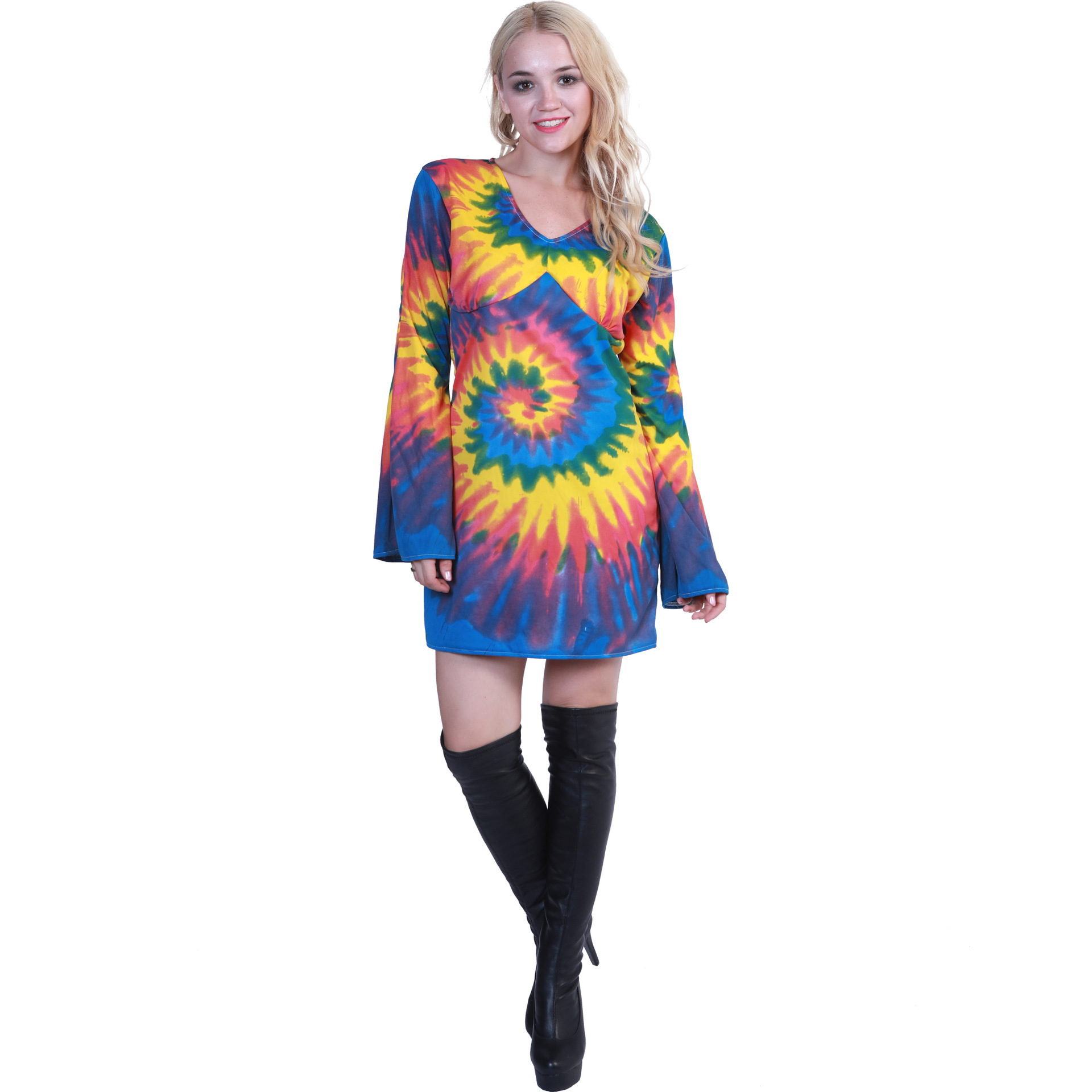 70s Sexy Groovy Love And Peace Flower Power Adult Woman Disco Costume
