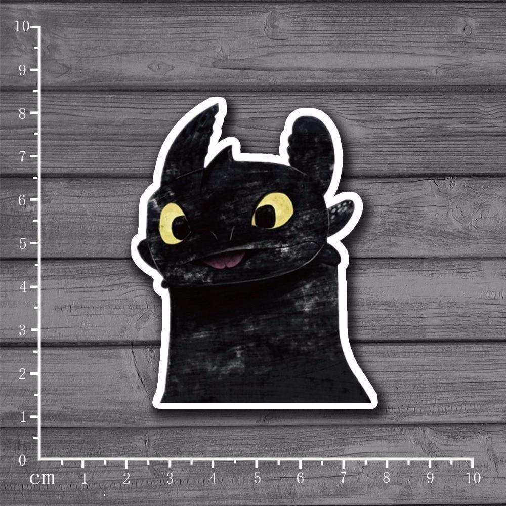 Toothless DIY Scrapbooking Stationery Sticker Decor For Ablum Diary Scrapbookin Laptop Notebook New School Supplies[Single]