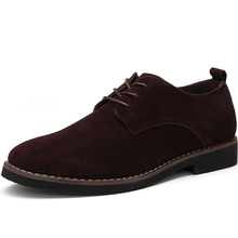 MIUBU Plus Size 38-48 Oxford Men Shoes PU Suede Leather Black Brown Soft 2019 Leisure Male Formal