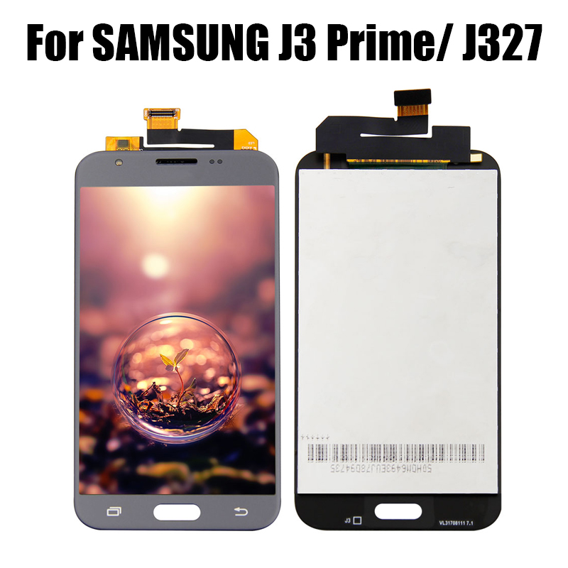 Gold LCD Screen Replacement Touch Display Digitizer Assembly for J3 2017 Prime Emerge Luna Pro J327 J327A J327V J327P J327T1 J327R4 with Repair Tools /& Screen Protector