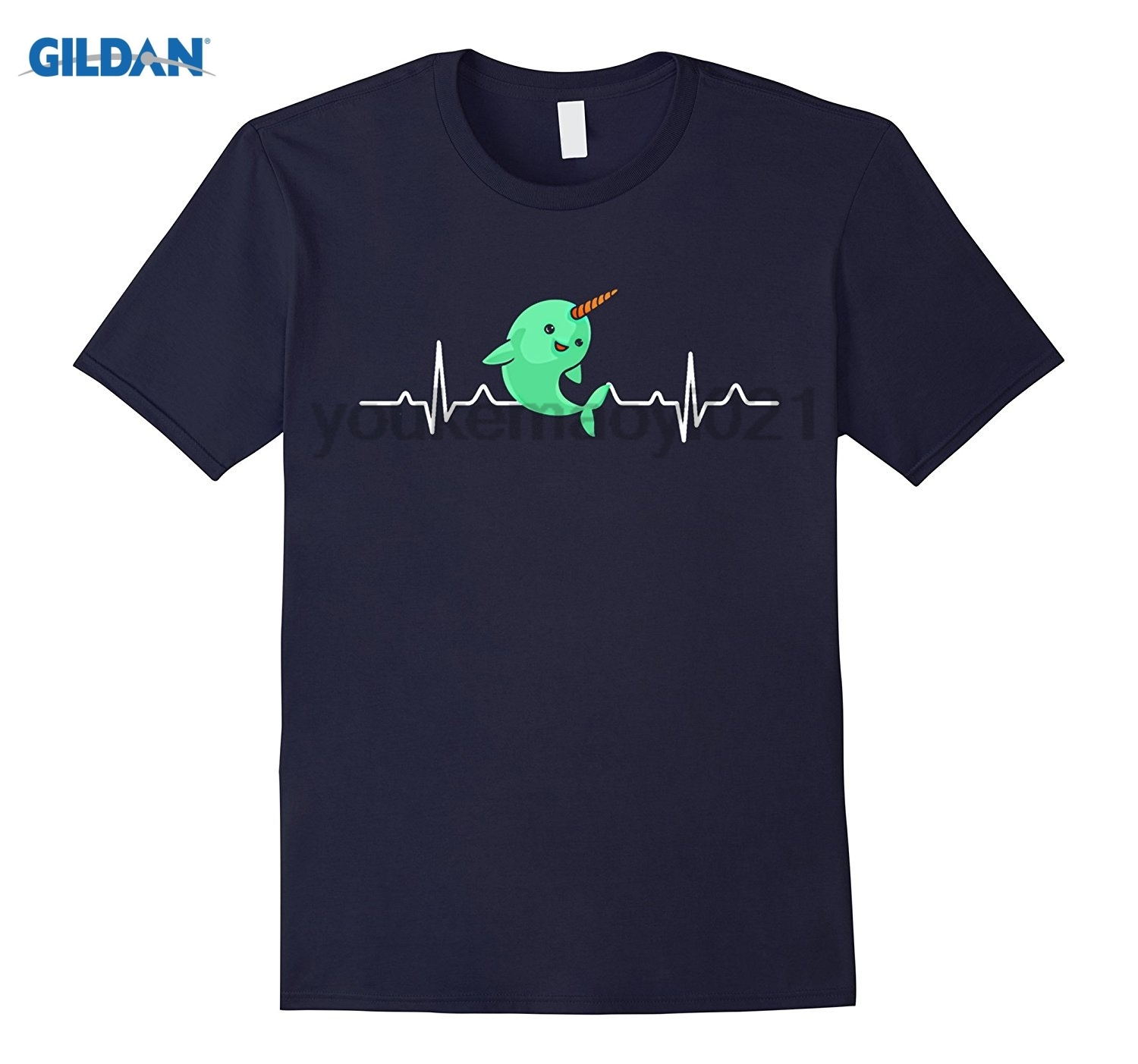 GILDAN The Be A Narwhal Shirt - Narwhal Heartbeat