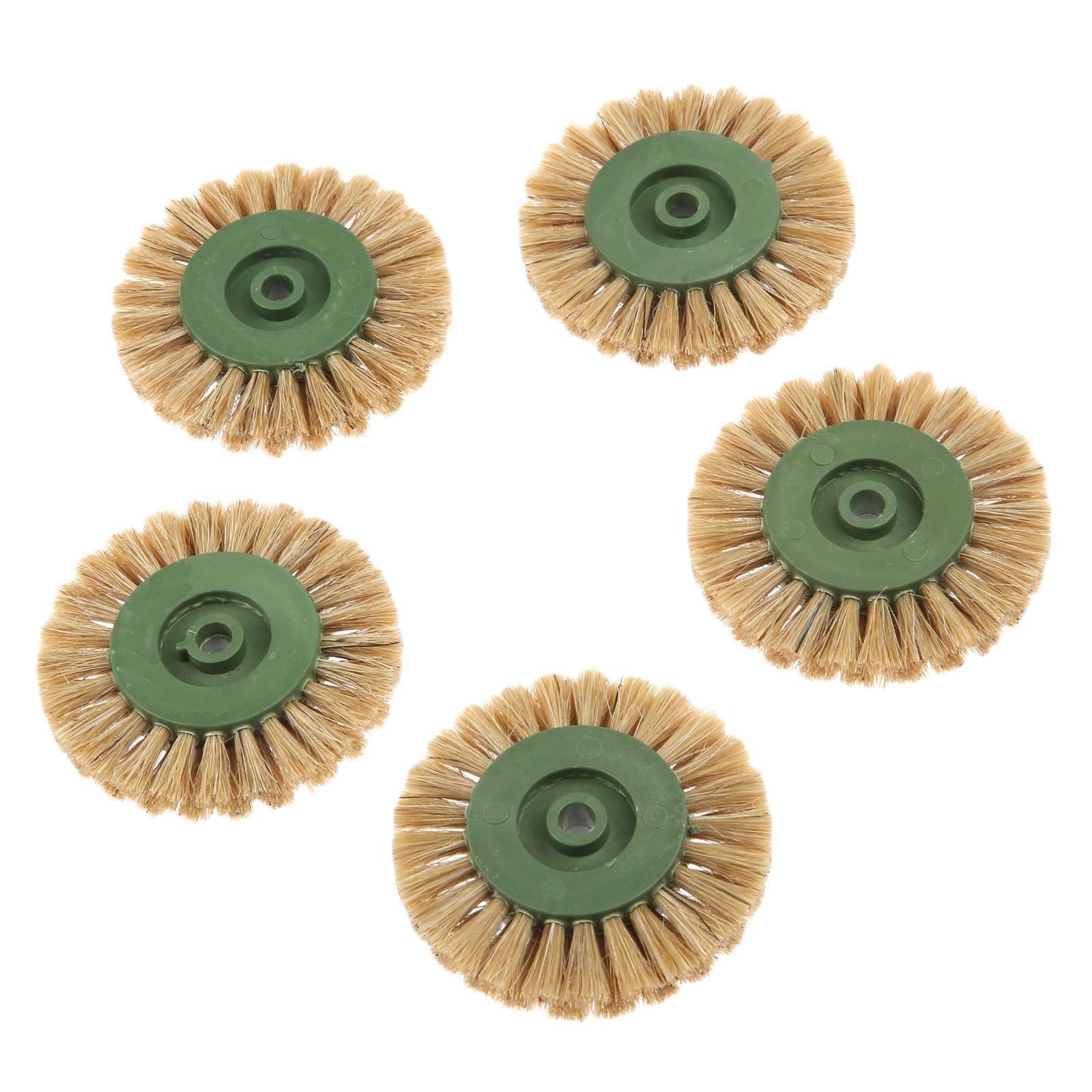 DRELD 5Pcs Dremel Accessories 60mm Grinding Brush Head Abrasive Wheel Yellow Buffing Polishing Wheels For Dremel Rotary Tool