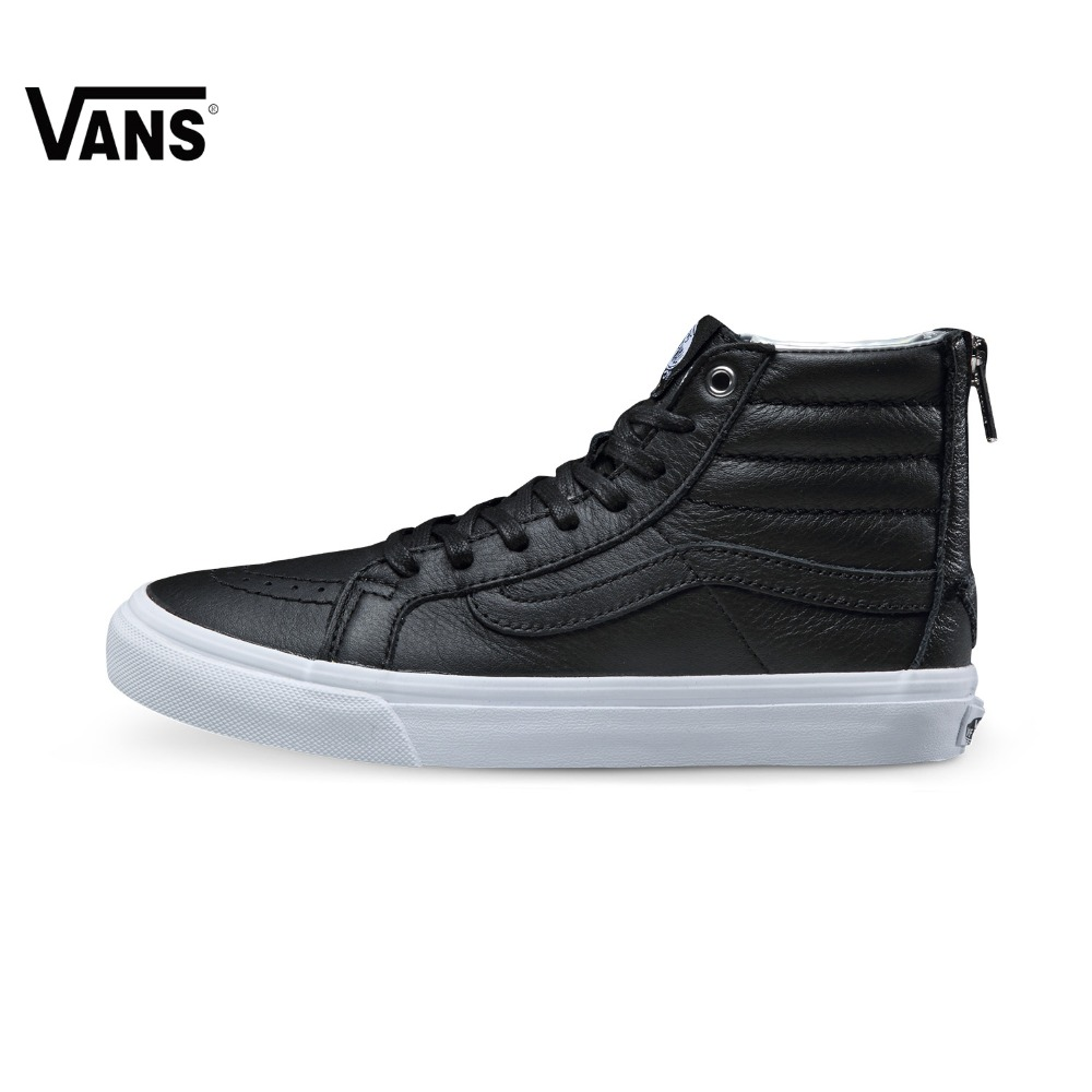 Original Vans New High-Top Women's Black and Wthite Skateboarding Shoes Sport Shoes Canvas Shoes Sneakers Comfortable Vans Shoes