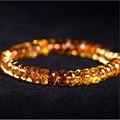 7-10mm Natural Citrino Cristal De Quartzo Faced Contas Marquise Jóias Femme Moda Estiramento Pulseiras Para Mulheres Charm Bracelet