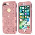 Para a apple iphone 7/7 mais caso, wefor agradável colorido silicone 3 em 1 capa dura para iphone7/7 além de