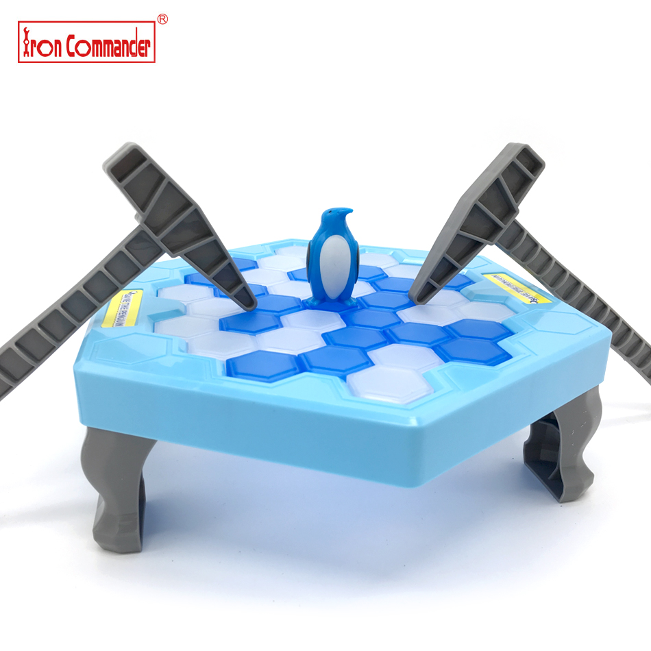 Iron Commande Ice Breaking Save Pinguin Spiel Kinder Desktop Pinguin Falle Knock Ice Block Spielzeug Kinder Frühe Lernspielzeug für Geschenke
