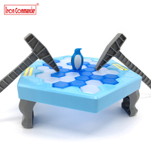 Iron Commande Ice Breaking Save Penguin Game Kids Desktop Penguin Trap Knock Ice Block Toy Kids Early Educational Toys for Gifts