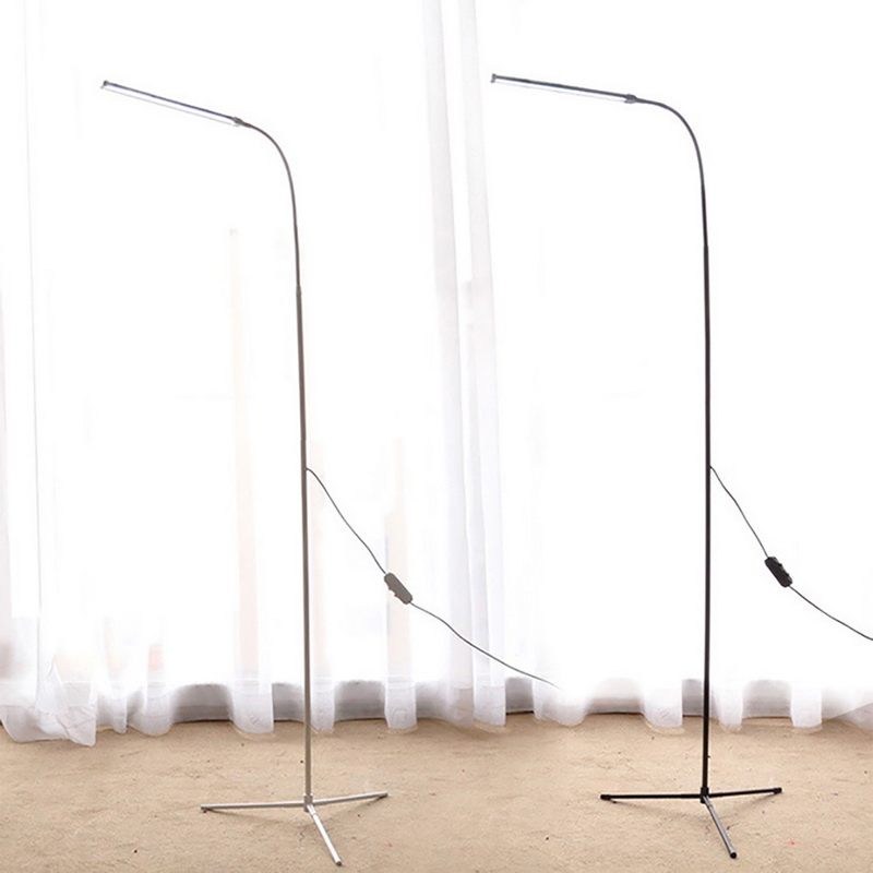 Modern LED Floor Lamp Dimming Toning 72leds USB Flexible Gooseneck Standing Reading Light with Stable Base