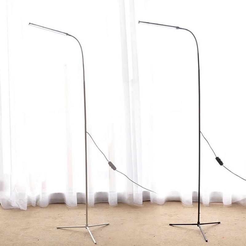 Modern LED Floor Lamp Dimming Toning 72leds USB Flexible Gooseneck Standing Reading Light with Stable Base