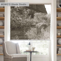 MOMO Blackout Window Curtains Roller Shades Blinds Thermal Insulated Fabric Custom Size Scenic ,PRB set204