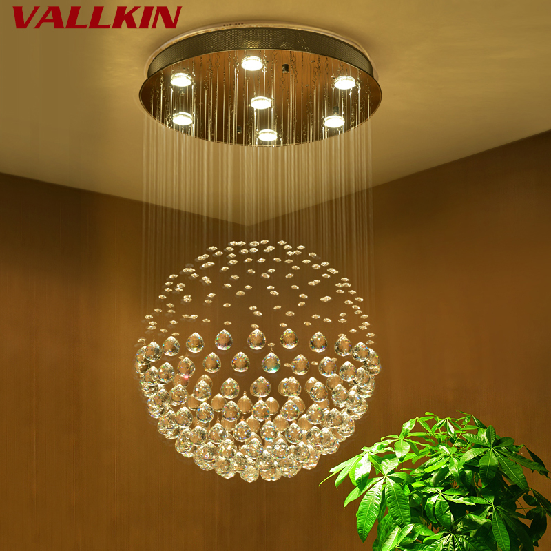 Multi Size Modern Crystal Celight Led Light Stair Ball Ceiling Chandelier Lamp Lighting Fixture AC110V 240V
