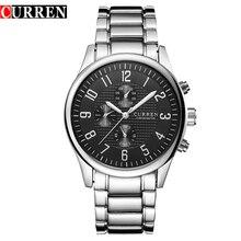 Nouveau mode Casual hommes montre hommes Sport Quartz montres hommes Curren marque complet acier cadran noir montre – bracelet Relogio Masculino