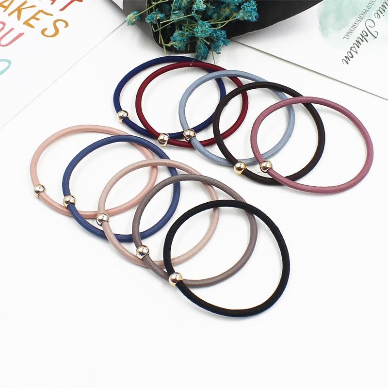 Aikelina 50pcs/lot 2017 New Fashion Elastic Women Hair Accessories 0.28CM Thin Hairband Hand Band For Girls Headwear Hair Bands