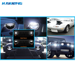 """Image 5 - 36w For Lada 4x4 urban Niva 7Inch LED Projector Headlights 7"""" LED Headlamps  with H4 to H13 Adapter for Jeep Wrangler"""