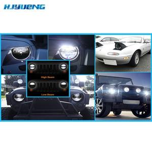 Image 5 - Faros LED de 36w para Lada 4x4 urban Niva 7 pulgadas 7 pulgadas 7 pulgadas faros delanteros LED con adaptador H4 a H13 para Jeep Wrangler