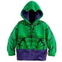Garçons enfants Hoodies Hulk veste Cartoon Super Hero Costume à capuche enfants mignon printemps vêtements vêtements manteau Drop Shipping gratuit