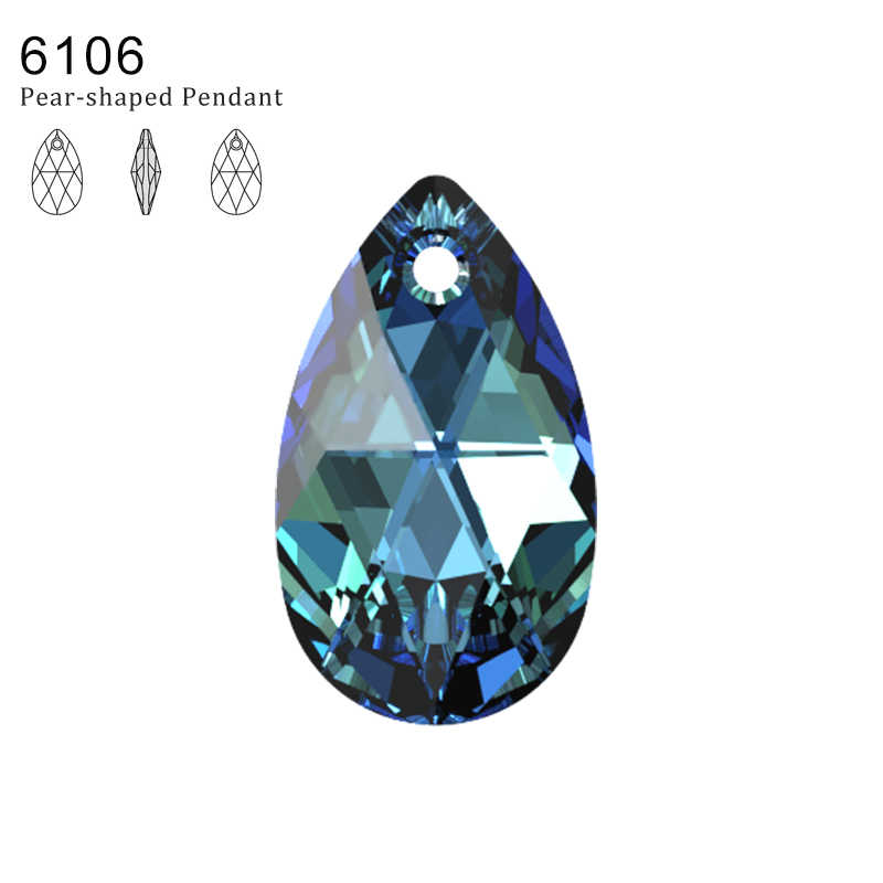 (1 piece) 100% Original crystal from Swarovski 6106 Pear-Shaped pendant from Austria loose beads rhinestone DIY jewelry making