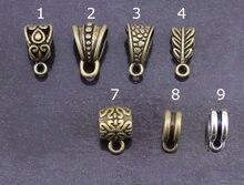 30 unids/lote antiguo de plata/Color bronce muchos estilo conector de collar fianza colgante de cuentas conectores para la fabricación de la joyería DIY F803