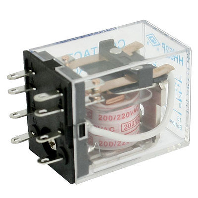 HH52P AC 220V Coil 8 Pin General Power Relay DPDT 5A 240VAC 28VDC