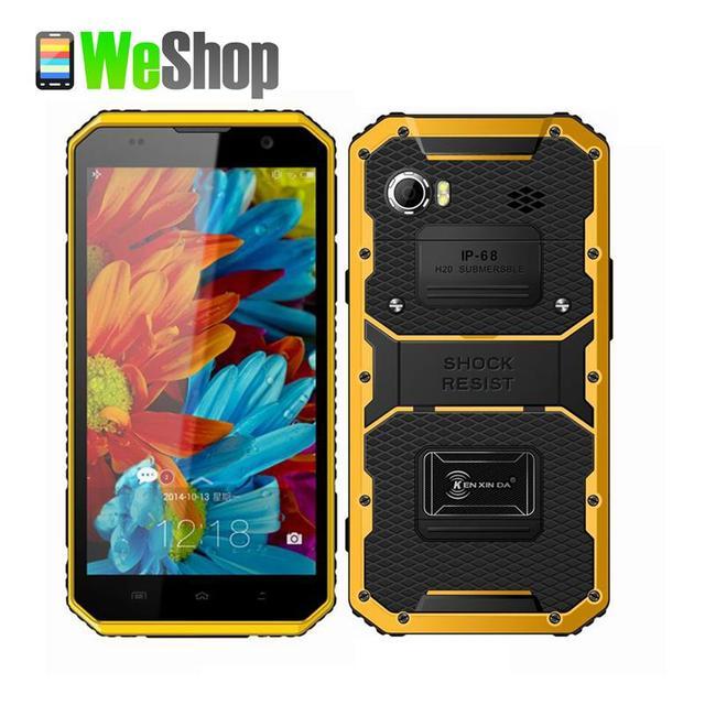 New KENXINDA Proofing W9 16GB ROM 2GB RAM 6.0'' Waterproof Dustproof Shockproof Smartphone Andriod 5.1 MTK6753 Octa Core IP68