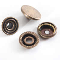 15PCS 12/15/17mm Metal Snap Fastener Press Stud Buttons Poppers Leather Craft Jeans Button Clothes DIY Accessories