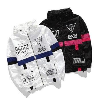 2017 nueva primavera otoño hombres rompevientos chaqueta de marca de moda Hip Hop delgada cremallera Casual chaqueta para hombre Outwear chaqueta de hombre