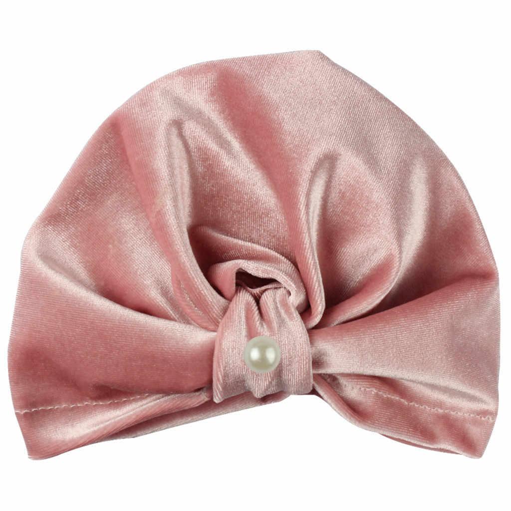 ทารกแรกเกิดเด็กทารกไข่มุก Pleuche หมวกถัก Beanie หมวกหมวก