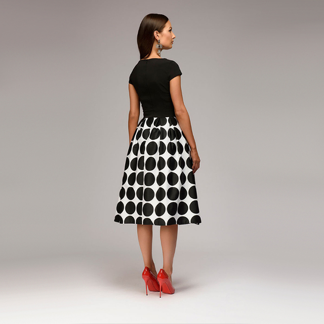 Women Dot Print Summer 2018 Casual Dress 2