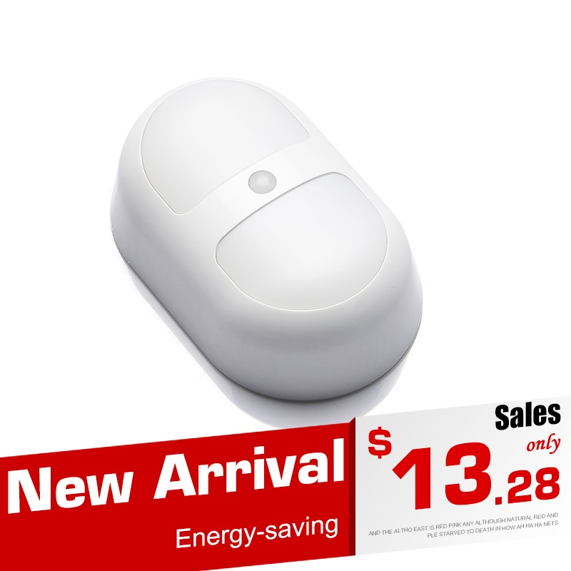 Wireless Human Sensor Night Lights Human Body Auto Motion Cabinet Lights Infraded Sensor Induction Lamps Using AA battery motion sensor led night light smart human body induction nightlight auto on off battery operated hallway pathway toilet lamps