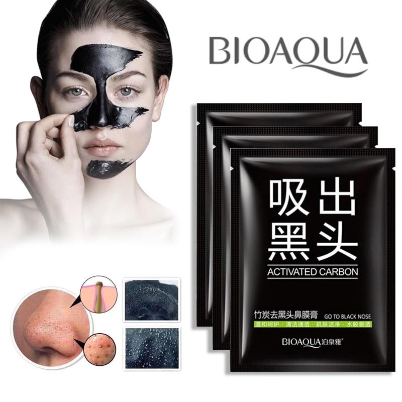 black mask face masker head points noirs charcoal remover. Black Bedroom Furniture Sets. Home Design Ideas