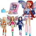 Hadas de hadas y lovix believix winx club doll rainbow muchacha colorida flor de hadas figuras de acción muñecas con classic toys para regalo de la muchacha