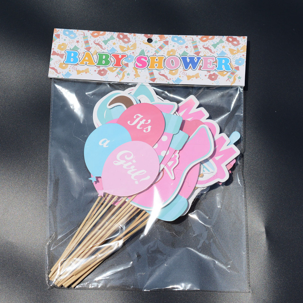 25pcs/Lot Baby Shower Photo Booth Props Its a Boy Girl Birthday ...