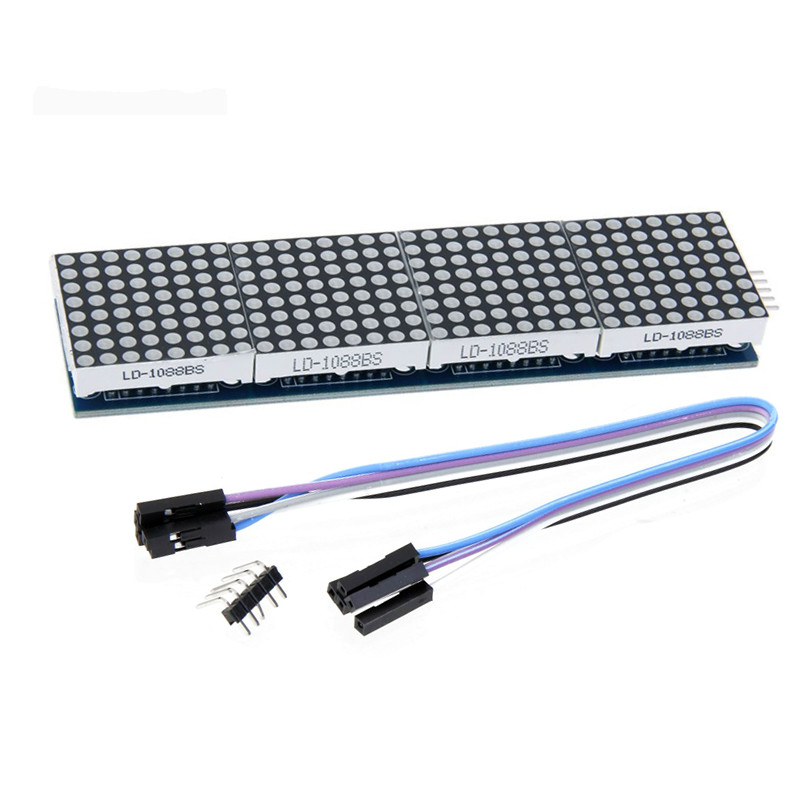MAX7219 Dot Matrix Module For Arduino Microcontroller 4 In One Display with 5P Line DIY Starter Kit