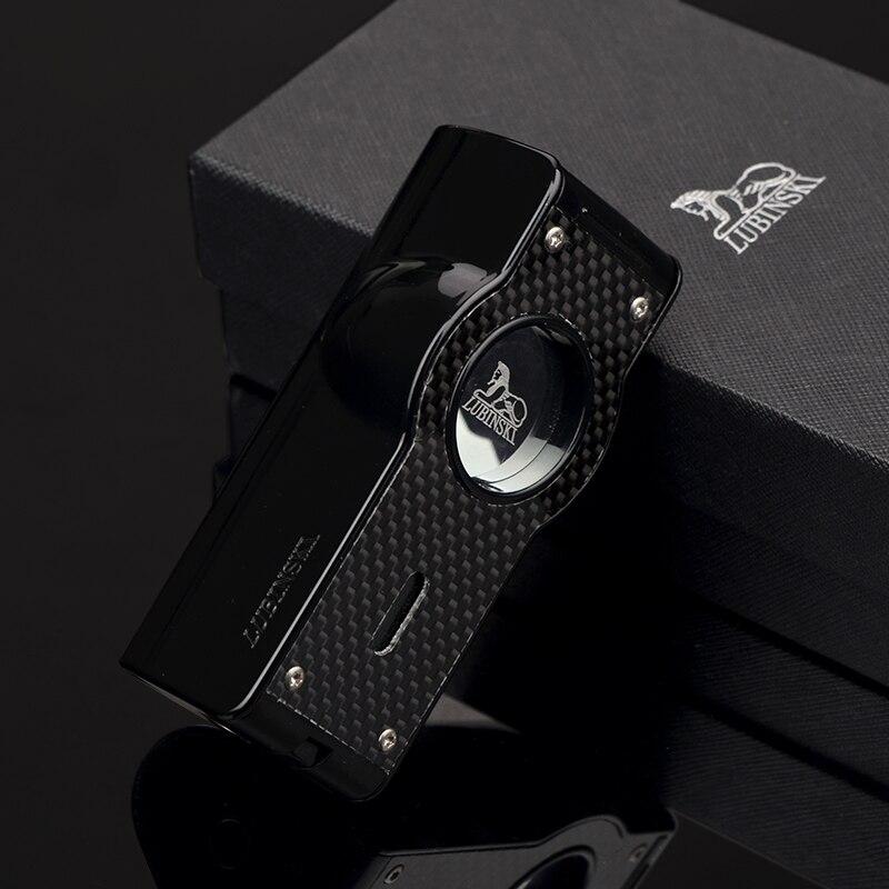 Lubinski montre haut de gamme Style Laser tactile Induction 4 torche Jet flamme métal allume cigare avec poinçon