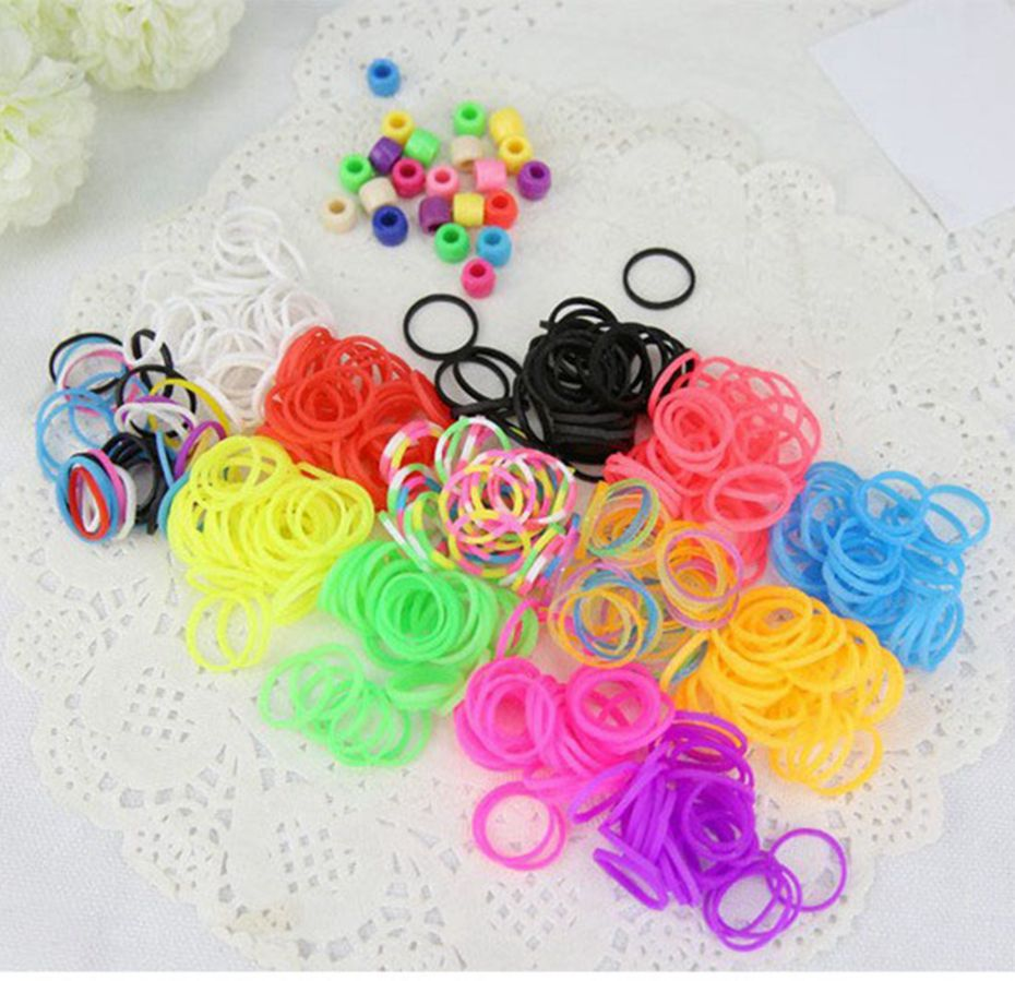 diy s bracelet from box children crazy bands kit clips loom craft product storage with silicone new ledsolution colorful