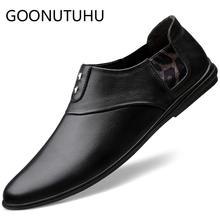 2019 new fashion men's shoes casual genuine leather cow loafers man brown black slip on shoe male driving shoes for men hot sale все цены
