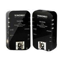 2 piezas Yongnuo E-TTL Flash Trigger YN622 C Radio 1/8000 S para Canon 7D 60D 50D 40D 450D 500D 550D 600D 650D 1000D 1100D