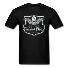 Book Club T-shirt Men Tshirt Flourish And Blotts Diagon Alley Male T Shirt Cotton Vintage Letter Clothes Magic male t shirt puma 57499701 sports and entertainment for men sport clothes