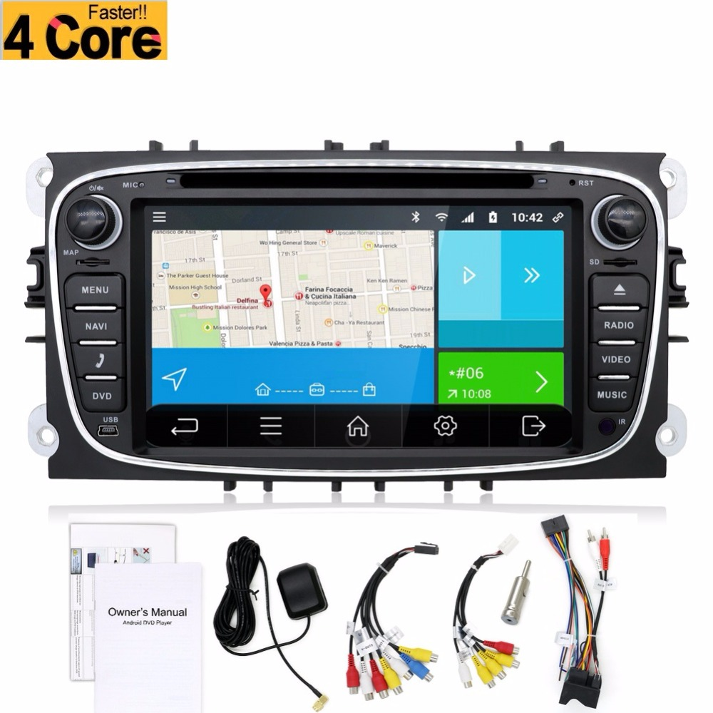 Black Silver Two 2 Din 7 Inch Car DVD Player For FORD/FOCUS 2 MONDEO/S-MAX/CONNECT 2008-2011 With 3G GPS BT IPOD TV FM Free Map