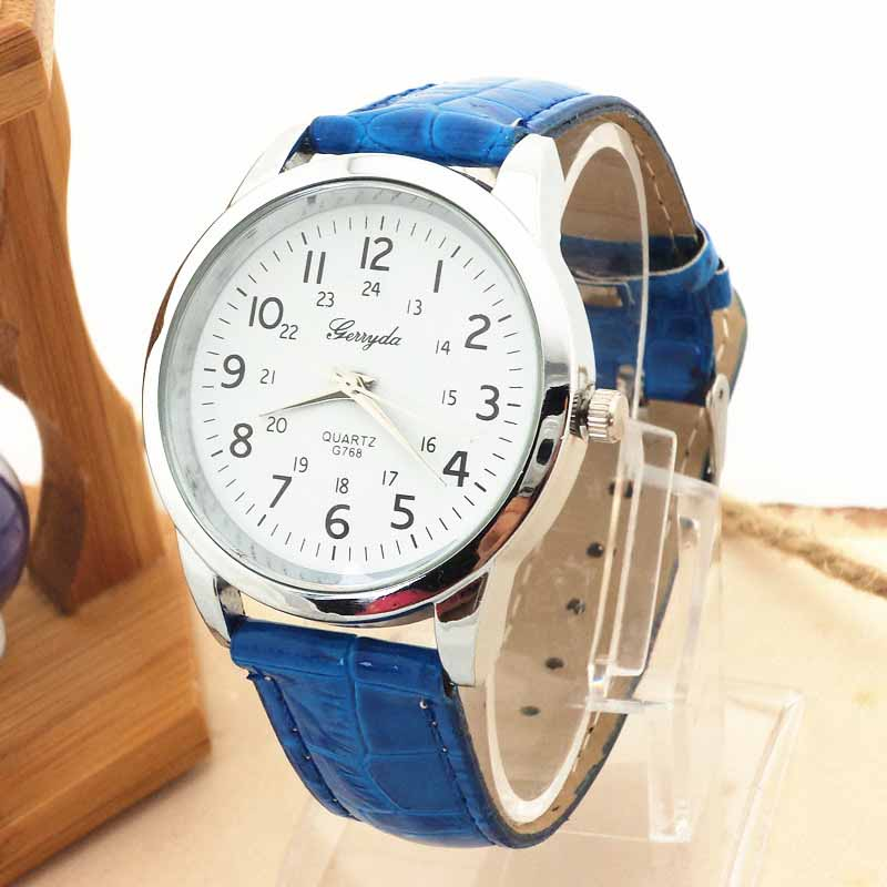 Men watches Elegant Analog Luxury Sports Leather Strap Quartz male Wrist Watch geneva fashion hand black clock boyes gifts A75