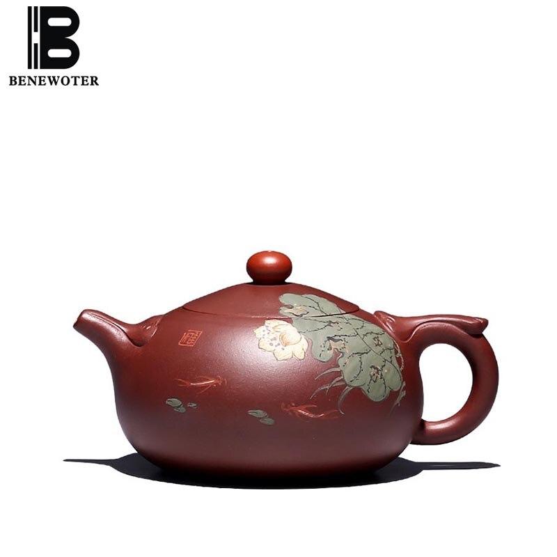 290cc Аутентичные Исин фиолетовый глина Чай горшок традиции 9 отверстия природного сырья руды Zisha горшок дома Посуда для напитков Чай церемони