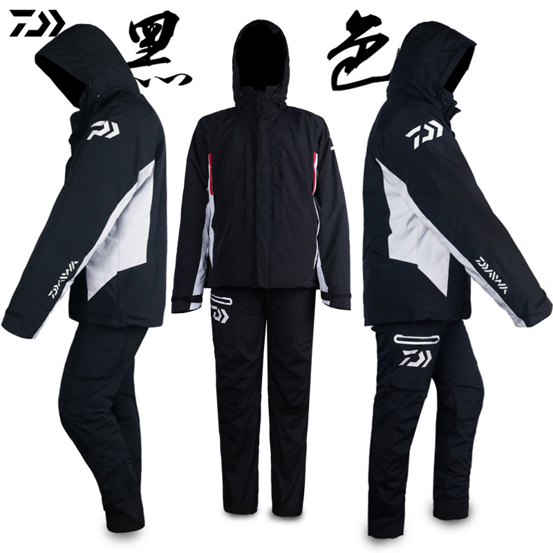 DAIWA Clothing Winter Fishing Jacket Pants Waterproof Windproof Keep Warm With Inside Clothes And Outside Clothes Fishing Suit