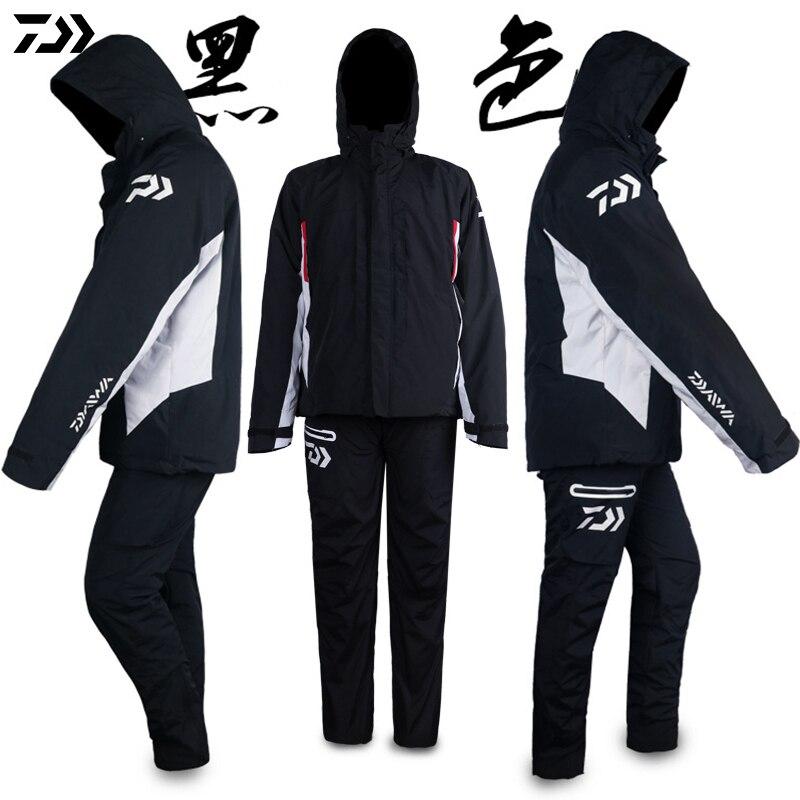 DAIWA vêtements hiver veste de pêche pantalon imperméable coupe-vent garder au chaud avec des vêtements à l'intérieur et à l'extérieur vêtements costume de pêche