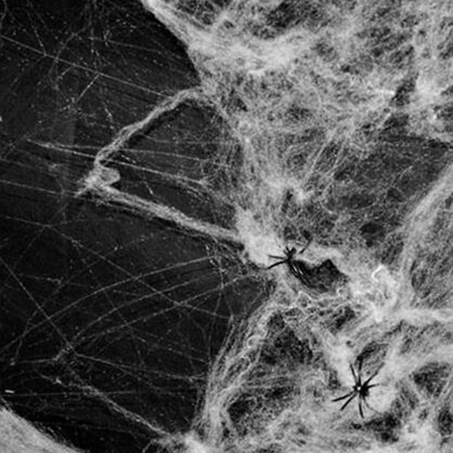 halloween scary party scene props white stretchy cobweb spider web horror halloween decoration for bar haunted