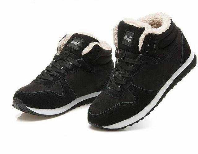 Marcas 2017 Homens Da Moda de calçados de Inverno Botas de Neve manter Quente bota de Neve De Pelúcia Tornozelo Trabalho casual Ao Ar Livre tenis feminino 662